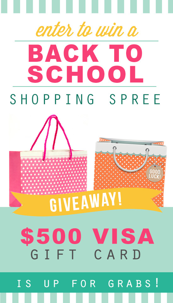 Back to School $500 Giveaway for US Readers