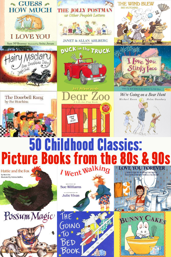 50 Childhood Classics: Picture Books from the 80s and 90s