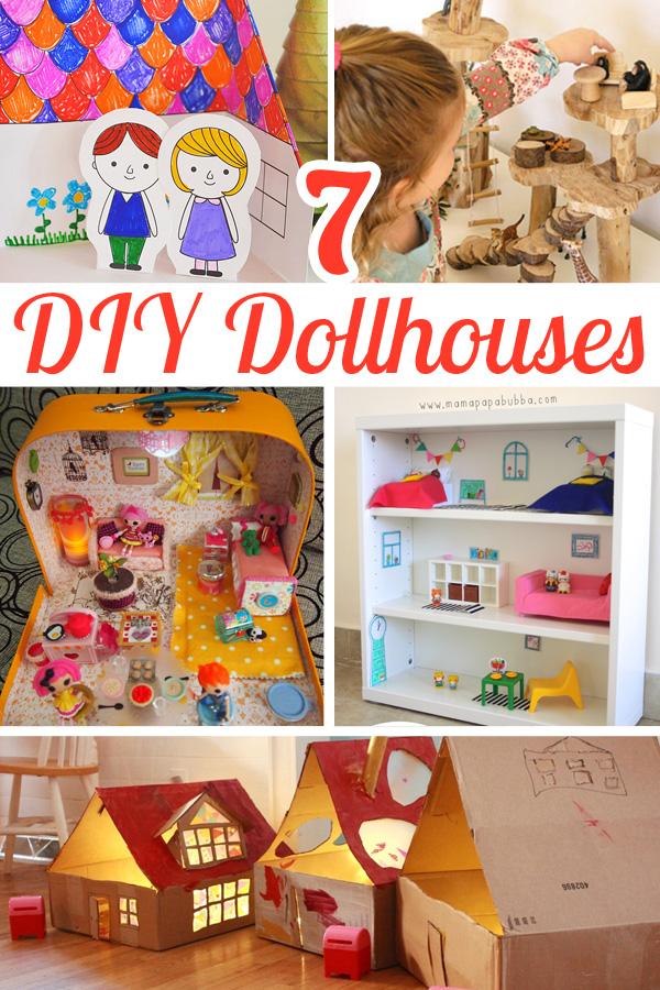 7 DIY Dollhouses for Pretend Play