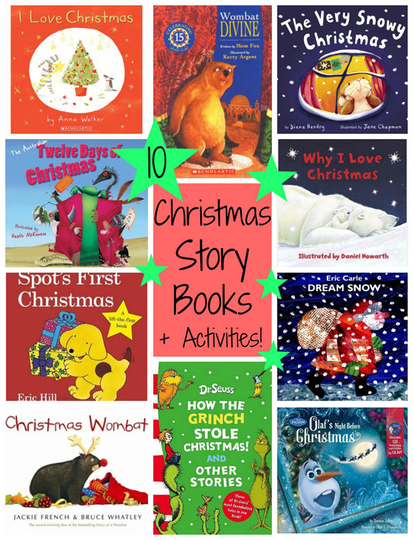10 Christmas Picture Books with Matching Activities