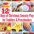 12 Christmas Sensory Play Ideas for Toddlers and Preschoolers