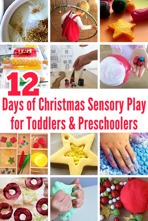 12 Days of Christmas Sensory Play for Toddlers & Preschoolers