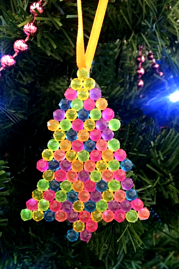 Fusible bead Christmas decorations with free printable patterns