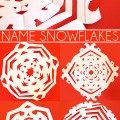 Cool Ideas for Kids: Name Snowflakes