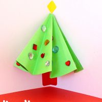 Pop Up Christmas Tree Cards