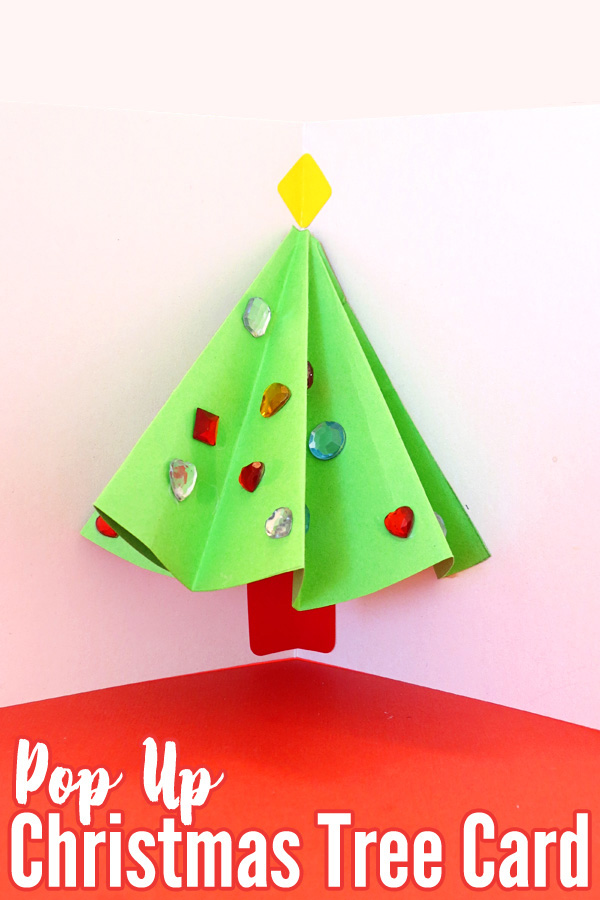 Pop Up Christmas Tree Card That Kids Can Make