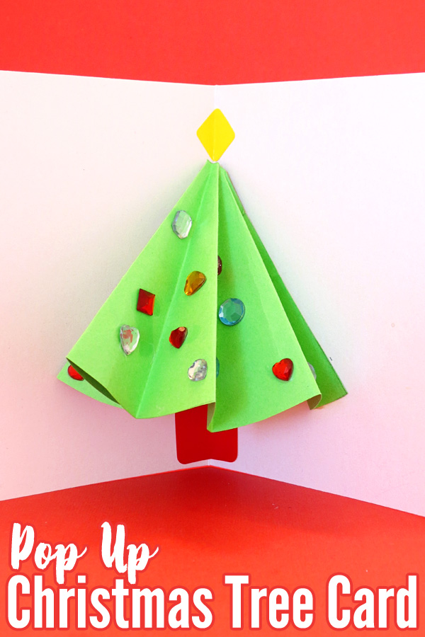 Make Christmas Cards With Kids Part - 49: Fun Christmas Projects For Kids: Pop Up Christmas Tree Card