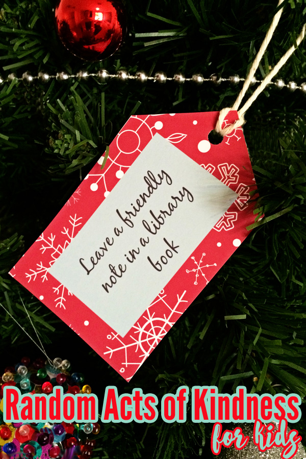 Printable Random Acts of Kindness Cards for families. Perfect for Advent