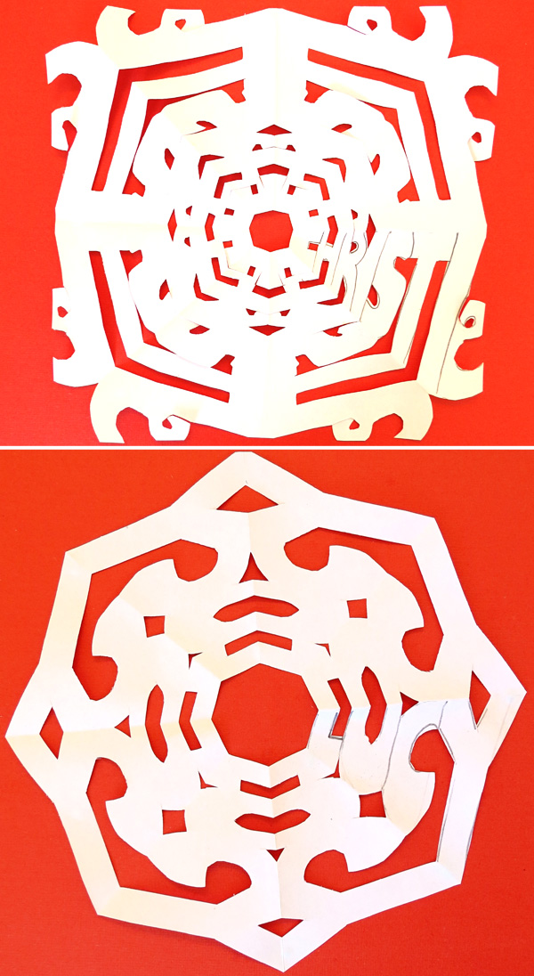 STEAM Challenges for Kids: Name Art Snowflakes tutorial