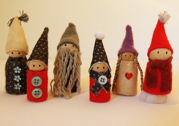 Wooden Peg Imaginative Play Gnomes Tutorial