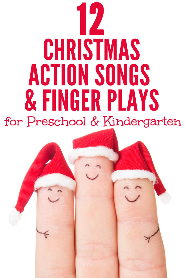12 Christmas Songs and Finger Plays. Perfect for preschool, kindergarten and lower primary/elementary grades.