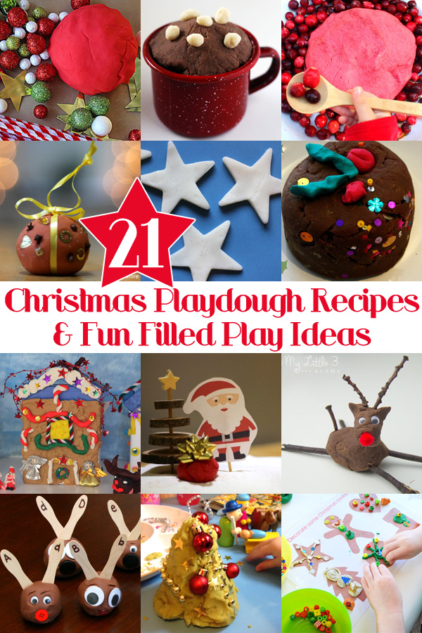 21 Christmas Playdough Recipes and Fabulous Playdough Play Ideas. Fun for the holidays and all through Winter!