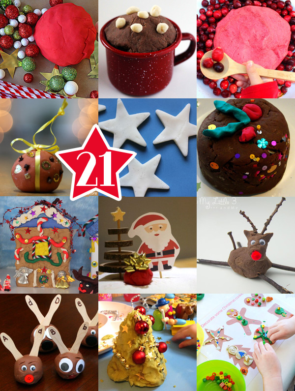 21 Christmas Themed Playdough Recipes & Play Ideas