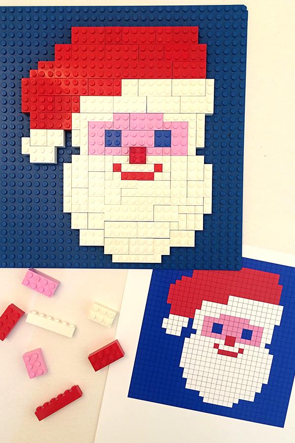 3 Christmas Printable Lego Mosaic Patterns
