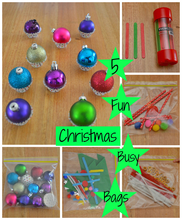 5 Fun Christmas Busy Bags for Preschoolers