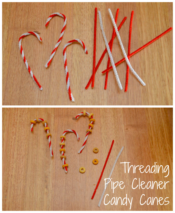 5 Christmas Busy Bags: Pipe Cleaner Candy Canes