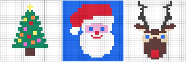 Christmas Lego Mosaic Printables