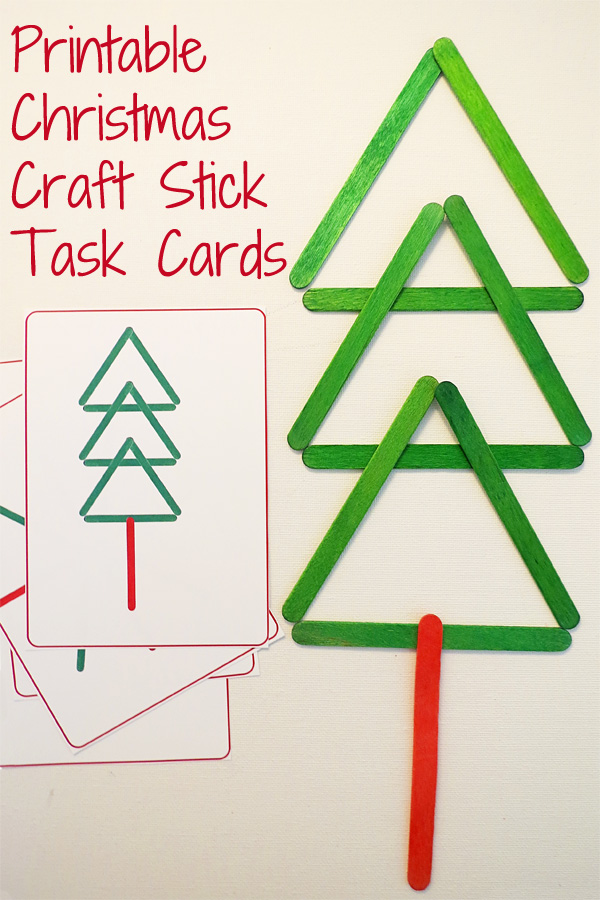 Printable Craft Stick Busy Bag Task Cards