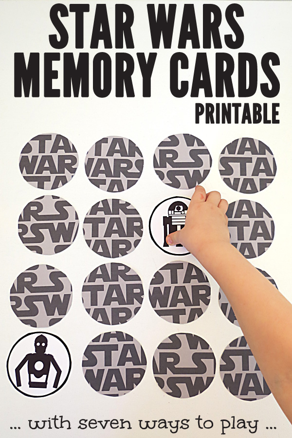 Printable Star Wars Memory Game with 7 ways to play