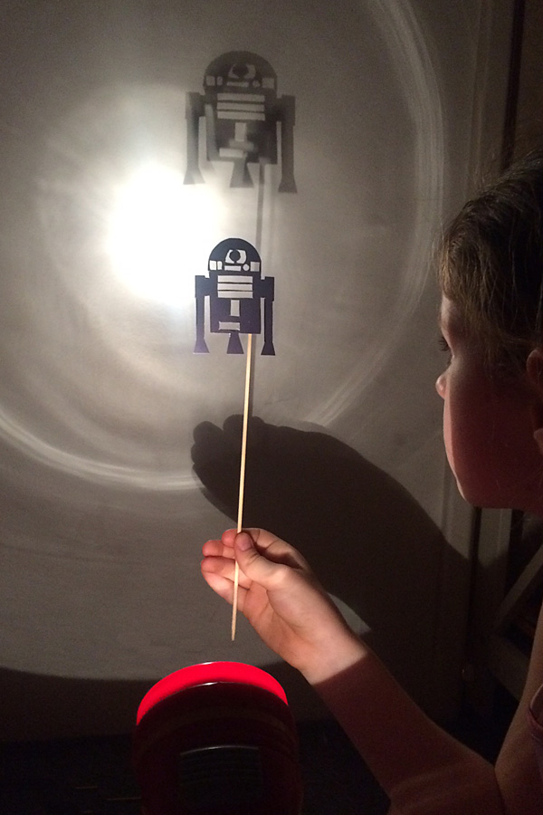 Printable Star Wars Shadow Puppets