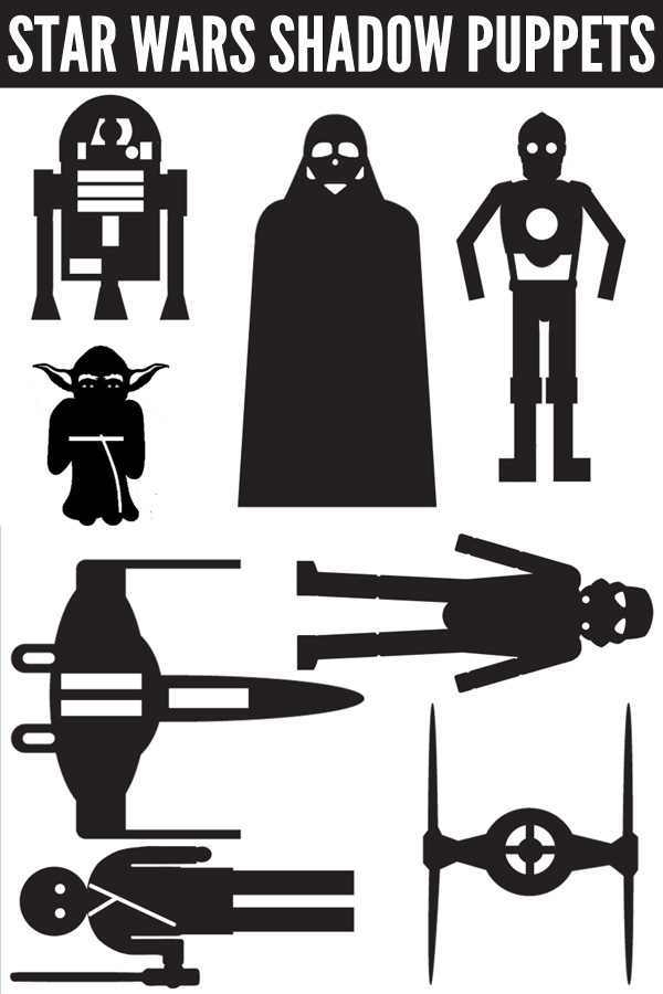 Star Wars Shadow Puppets Printable