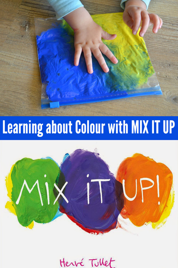 Toddler art: Learning About Colour Mixing with Mix It Up