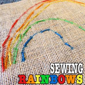 sewing rainbows