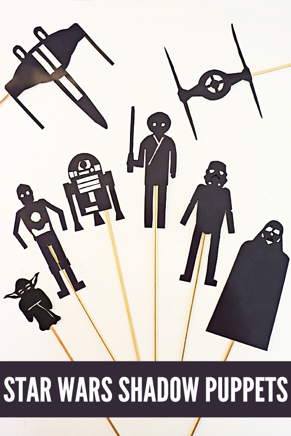 Staw Wars Shadow Puppets Activity for Kids