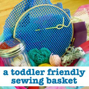 toddler friendly sewing basket