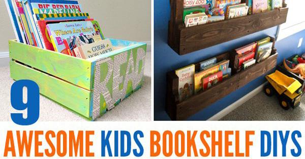 9 awesome diy kids bookshelves childhood101 for Diy kids bookshelf ideas