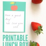 Lunch box love notes printable | Childhood 101