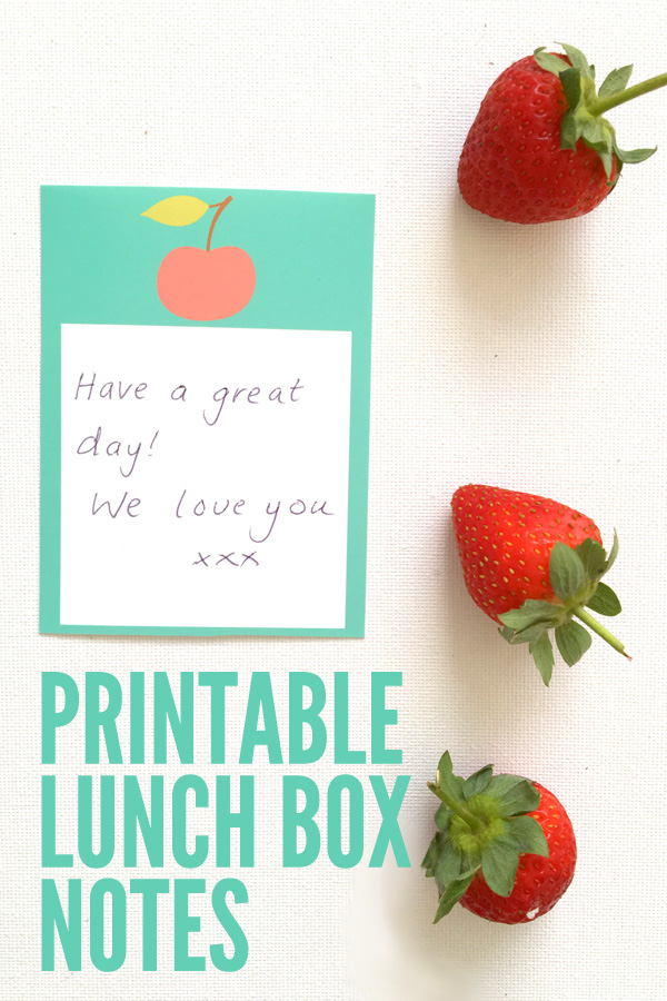 Printable Lunch Box Love Notes