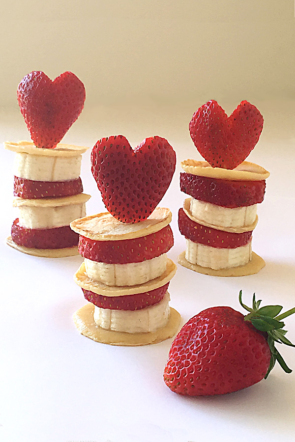 Mini Fruit and Pikelet Stacks: Healthy  Snacks for Kids, Valentines, Birthday Parties or Baby Showers
