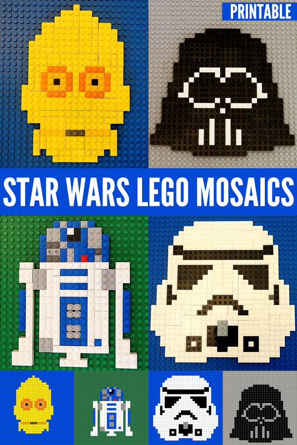 image about Star Wars Free Printable named Star Wars Pleasurable for Little ones:Star Wars Lego Mosaics