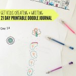 21 Day Printable Doodle Journal for Kids: Use doodles to inspire writing as an introduction to journalling for kids