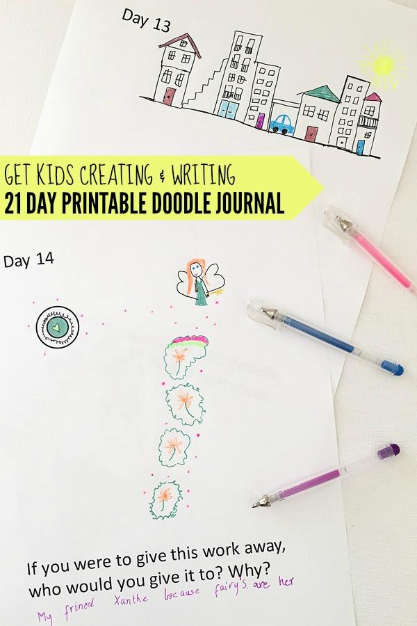 Get Kids Creating & Writing: 21 Day Doodle Journal Printable