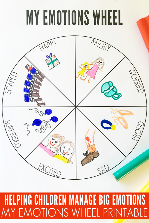 My Emotions Wheel Printable - View Feelings And Emotions Worksheets For Kindergarten Pdf Images