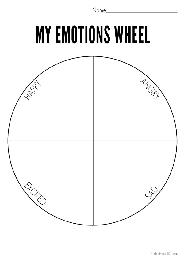 My Emotions Wheel Simplified