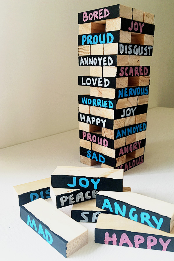 Exploring Emotions Jenga Game