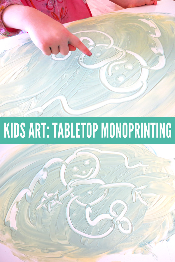 KIDS ART IDEAS: Tabletop monoprinting