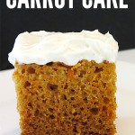One bowl slow cooker carrot cake