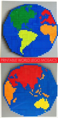 Printable World Lego Mosaic Patterns