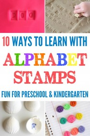 10 Fun Ways to Learn with Alphabet Stamps for preschool and kindergarten