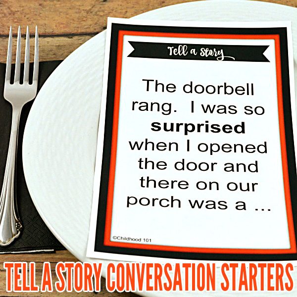 Tell a Story Conversation Starters /Storytelling Prompts for Families