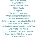 15 Counting Songs and Fingerplays for Preschool and Kindergarten. Includes printable song poster.