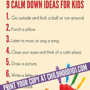 9 Calm Down Ideas Poster