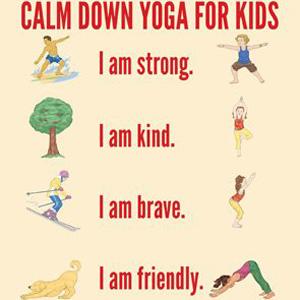 Calm Down Yoga Printable Poster