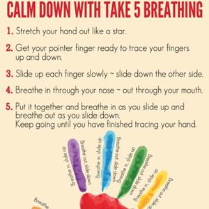 Take 5 Breathing Poster