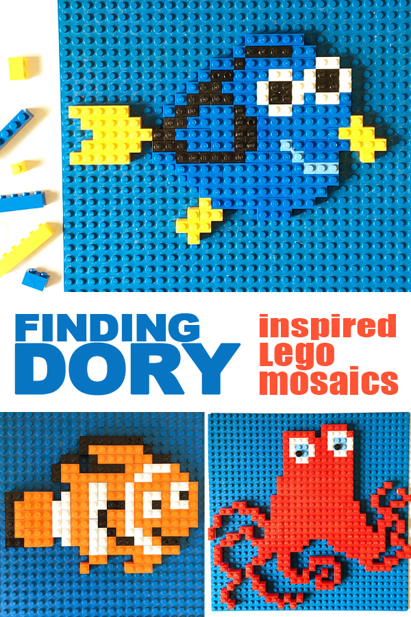 picture relating to Free Printable Mosaic Patterns identify Obtaining Dory Motivated Lego Mosaics