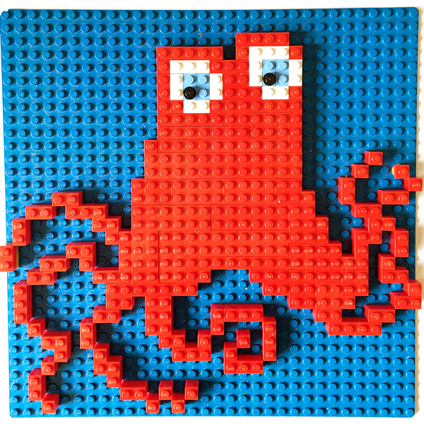 Finding Dory Inspired Lego Mosaic Patterns. Free printable. Whale Shark Size